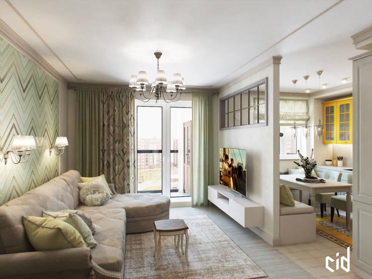 Итальянское вдохновение: Гостиная в . Автор – Center of interior design