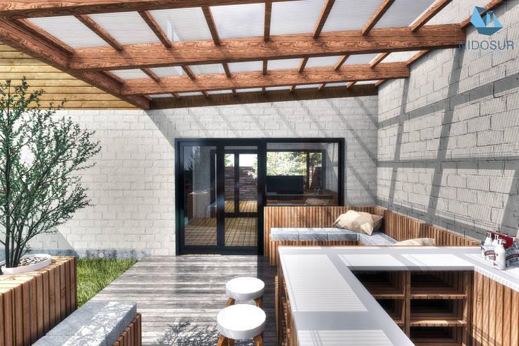 Terraza: Terrazas  de estilo  por NidoSur Arquitectos