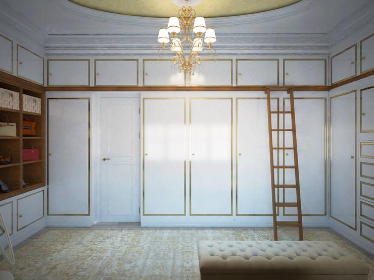 غرفة الملابس تنفيذ Дизайн-бюро Анны Шаркуновой 'East-West'