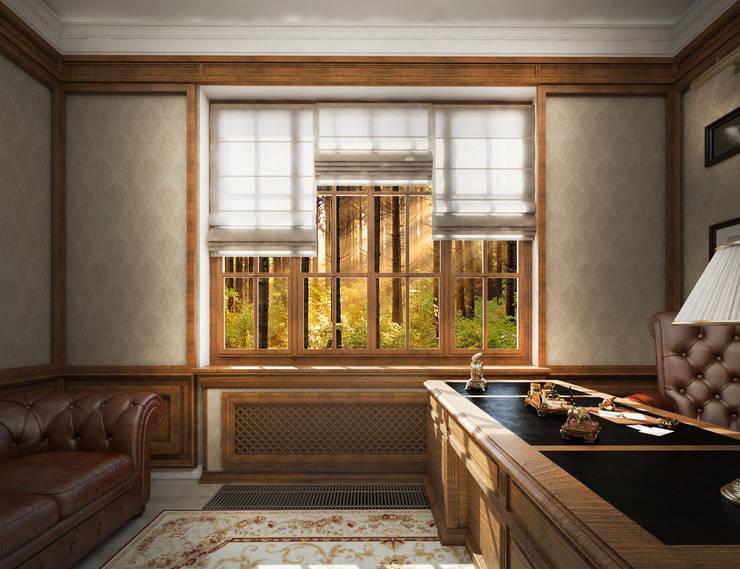 مكتب عمل أو دراسة تنفيذ Дизайн-бюро Анны Шаркуновой 'East-West'