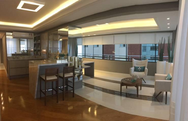 Projekty,  Salon zaprojektowane przez KOSH Arquitetura & Interiores