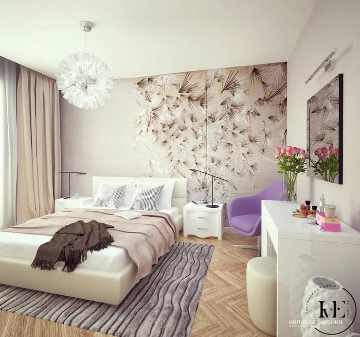 Спальня в современном стиле от мастерской IvE interior: Спальни в . Автор – Iv-Eugenie