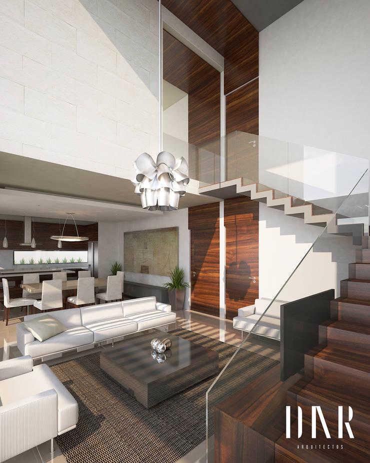 Perspectiva interior: Salas de estilo  por DAR Arquitectos