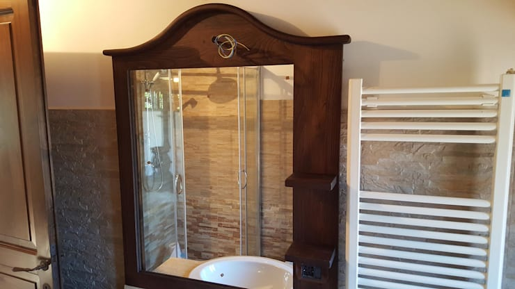 Bagno Legno Rustico : Bagno rustico chic in legno su misura artigianale 100% italiano di
