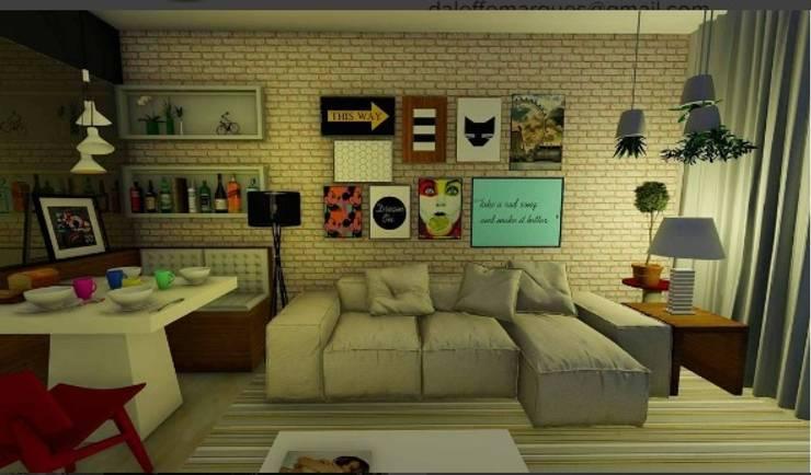 Salones de estilo  por Daleffe e Marques Arquitetura