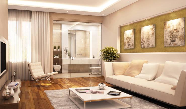 غرفة المعيشة تنفيذ Paul Jaeger GmbH & Co. KG