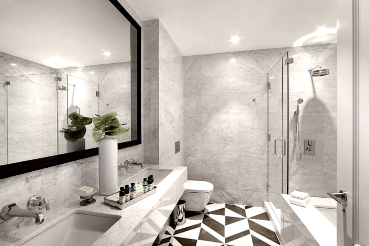 Penthouse Bathroom:  Bathroom by Joe Ginsberg Design