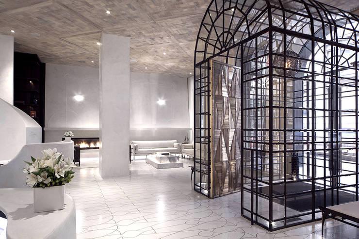 Entry - Lobby Marmara Park Avenue Hotel:  Hotels by Joe Ginsberg Design