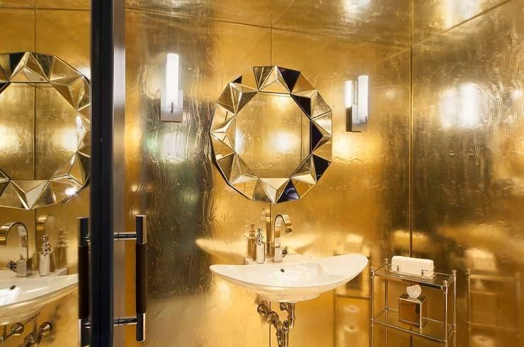 Bathrooms - Lobby Marmara Park Avenue Hotel:  Hotels by Joe Ginsberg Design