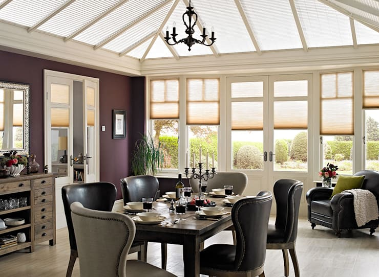 Duette - Energy Saving Thermal Conservatory Blinds: modern Conservatory by Thomas Sanderson