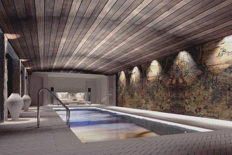 Pool -  Spa Design:  Hotels by Joe Ginsberg Design
