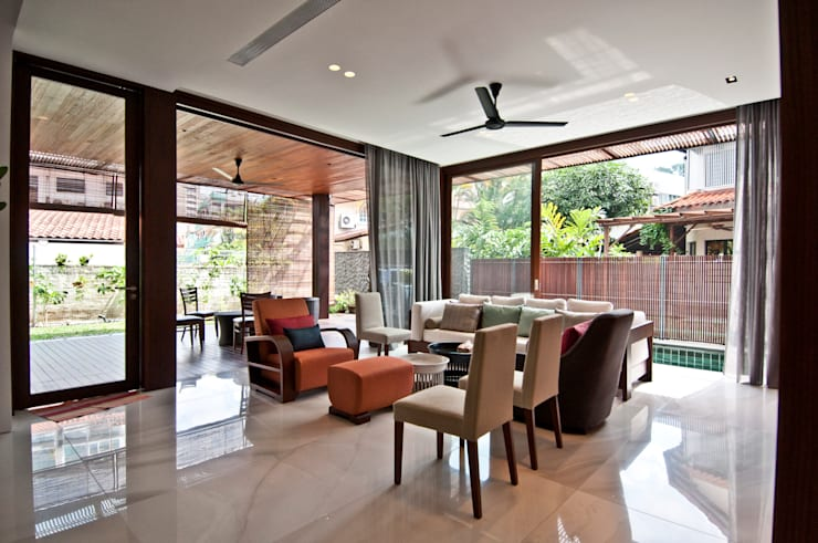 Moonbeam House: modern Living room by ming architects