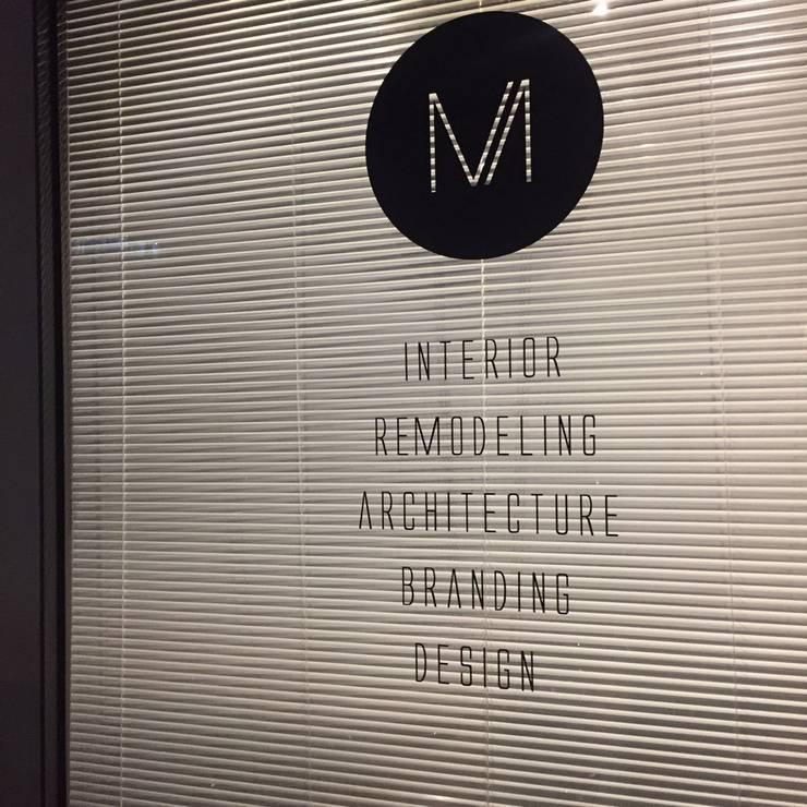 office: 밀리미터디자인의  서재 & 사무실,모던