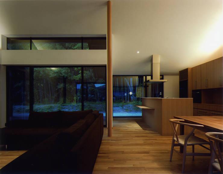 秋月の家: 柳瀬真澄建築設計工房 Masumi Yanase Architect Officeが手掛けたリビングです。