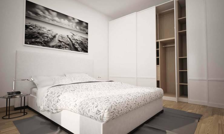 BILOCALE SANTO STEFANO: Camera da letto in stile  di LAB16 architettura&design