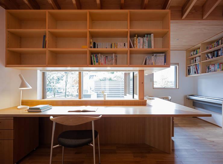 Phòng học/Văn phòng by 柳瀬真澄建築設計工房 Masumi Yanase Architect Office