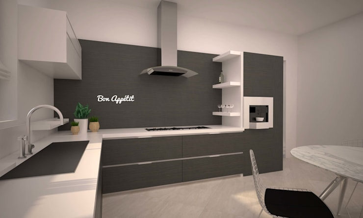 LITTLE KITCHEN: Cucina in stile  di LAB16 architettura&design
