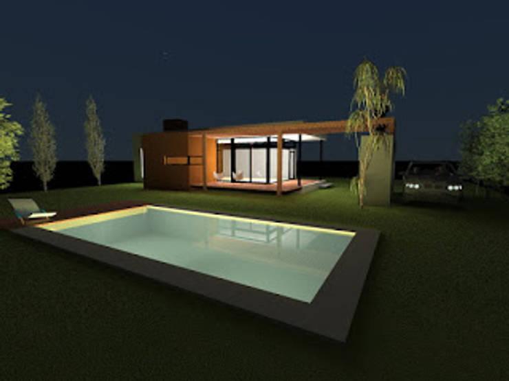 Etapa ampliacion espacios de ocio y recreacion :  de estilo  por VHA Arquitectura