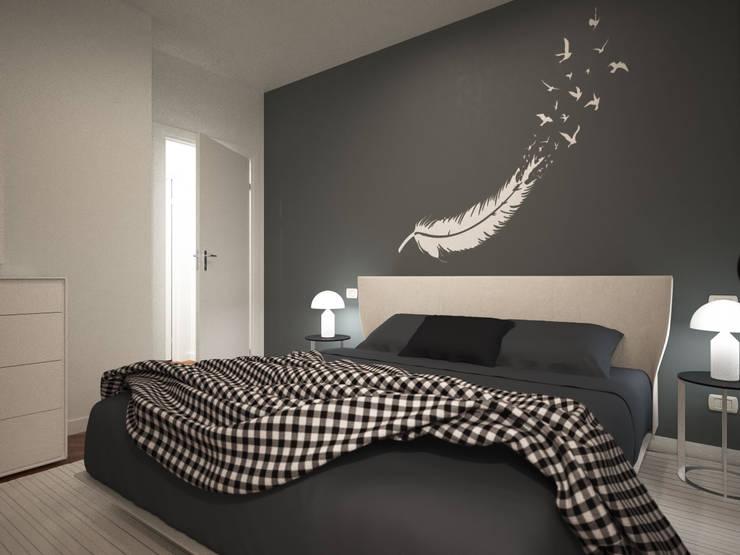 غرفة نوم تنفيذ GMV Graph - Studio Tecnico di geom. Marco Luca Villa