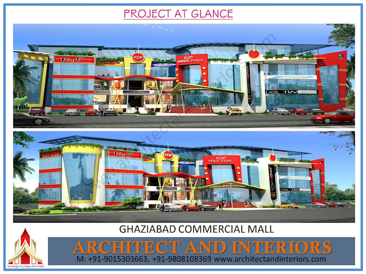 Ghaziabad commercial Mall:  Commercial Spaces by Absolute Architect and Interiors,Classic