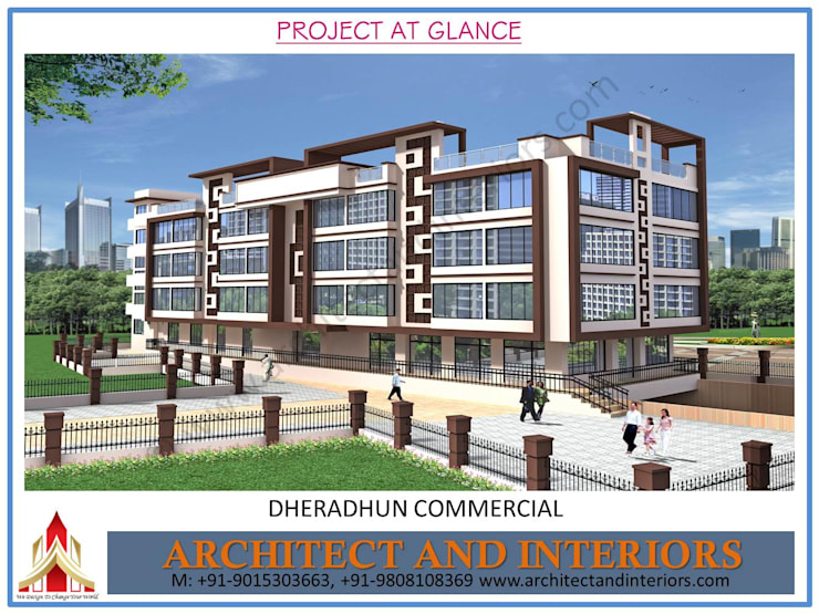 Dheradhun Commercial:  Commercial Spaces by Absolute Architect and Interiors,Asian
