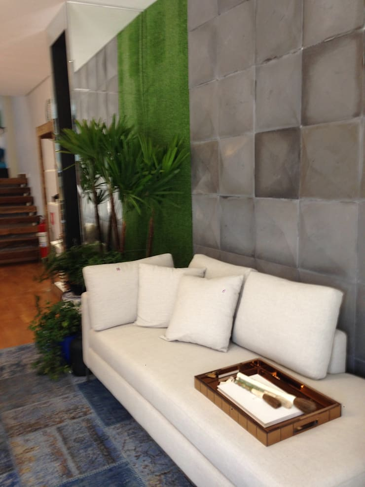 de estilo  de Samira Prado Moda Casa, Moderno Textil Ámbar/Dorado