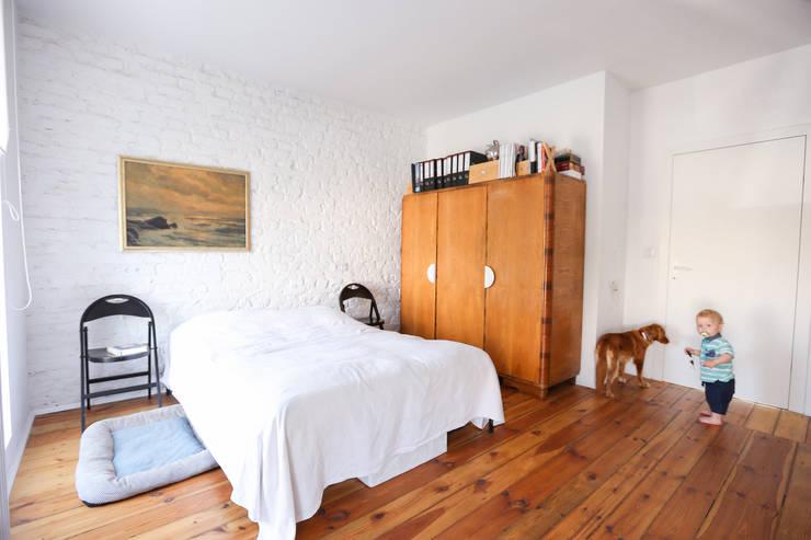 BIAŁE BLIŹNIAKI: styl , w kategorii Sypialnia zaprojektowany przez NA NO WO ARCHITEKCI