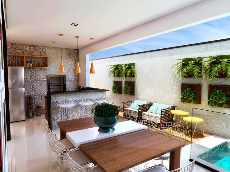 Casas de estilo  por ADRIANA MELLO ARQUITETURA