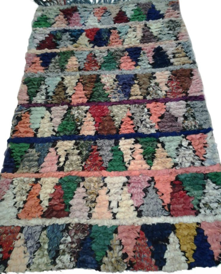 COLORFUL BOUCHEROUITE RUG:  Bathroom by BOHOZOO