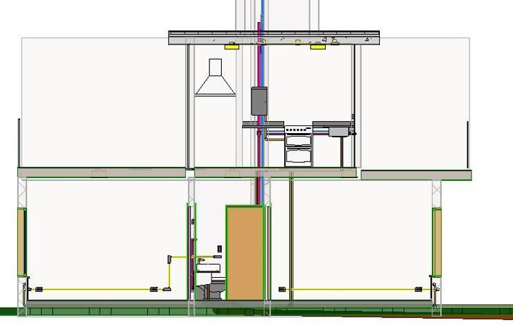 VIVIENDA SUSTENTABLE LOS MOLINOS CORDOBA: Casas de estilo  por BIM ARCH SERVICES,