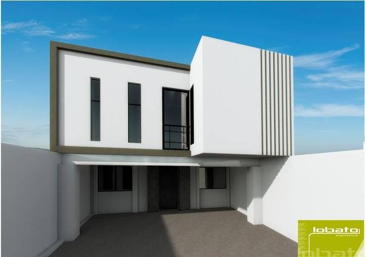 Propuesta Fachada Interior:  de estilo  por Lobato Arquitectura
