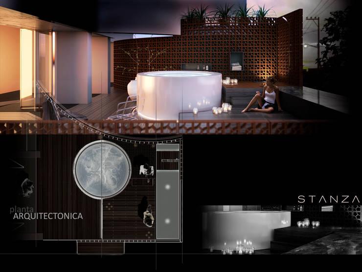 Diseño final : Baños de estilo  por FUNDAMENTAL