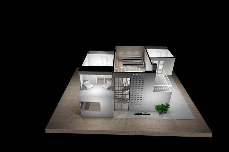Maqueta 3D:  de estilo  por Estudio AL - Arquitectura-Diseño Interior