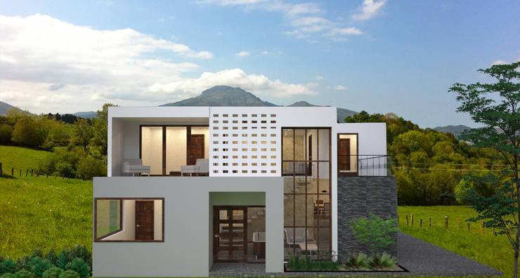 Fachada:  de estilo  por Estudio AL - Arquitectura-Diseño Interior