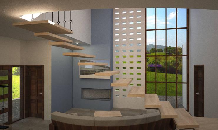 Estancia:  de estilo  por Estudio AL - Arquitectura-Diseño Interior