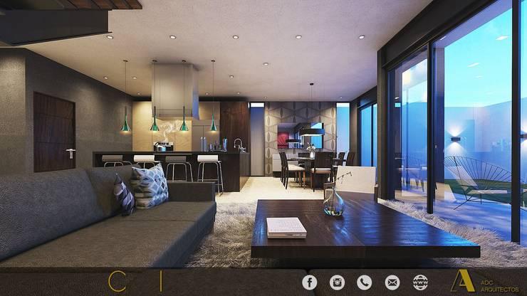 PROYECTO GI/L21/M55/AMORADA/MEX: Salas de estilo  por ADC arquitectos