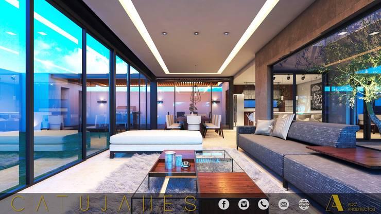CATUJANES/L2/MEX: Salas de estilo  por ADC arquitectos