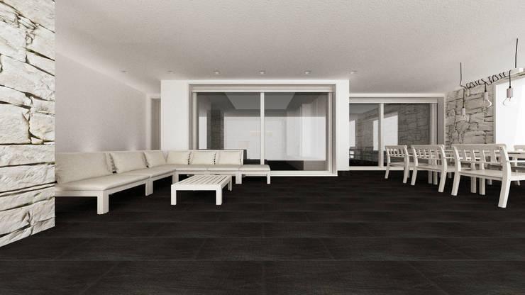 بلكونة أو شرفة تنفيذ De Vivo Home Design