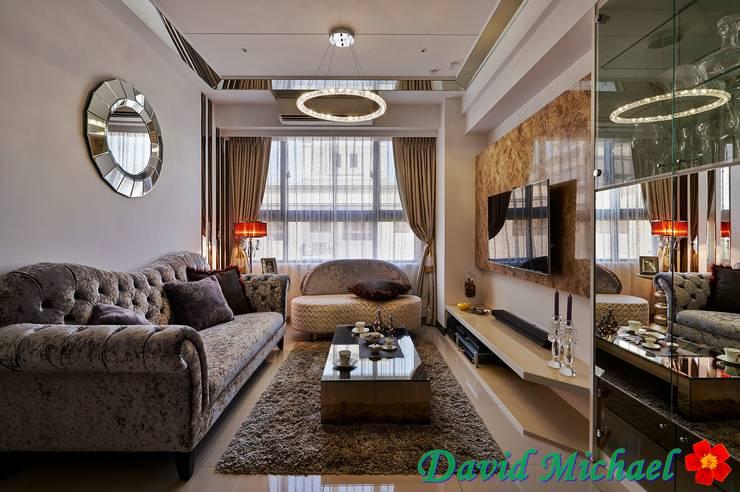 【潘朵拉的珠寶盒-上集】:  客廳 by 大衛麥可國際設計工程有限公司