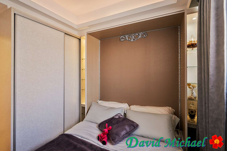 Camera da letto in stile  di 大衛麥可國際設計工程有限公司