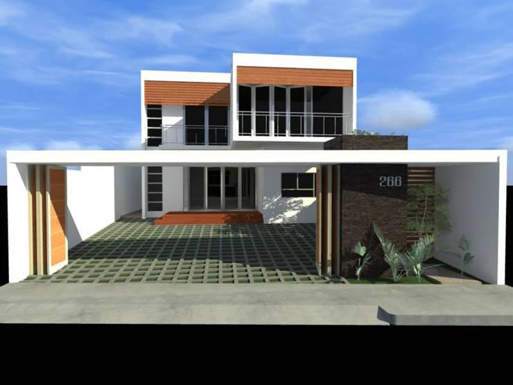 Casa Cubo Lara : Casas de estilo  por Lobato Arquitectura