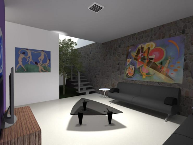 Living room by Lobato Arquitectura, Modern