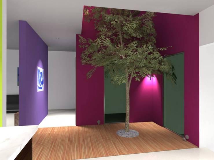 Casa Cubo Lara : Jardines de estilo  por Lobato Arquitectura