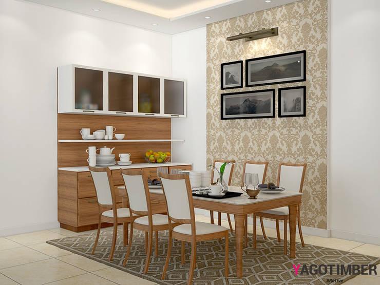 Dining Room Design:  Dining room by Yagotimber.com
