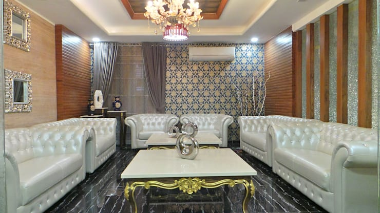 Living room by Shadab Anwari & Associates.
