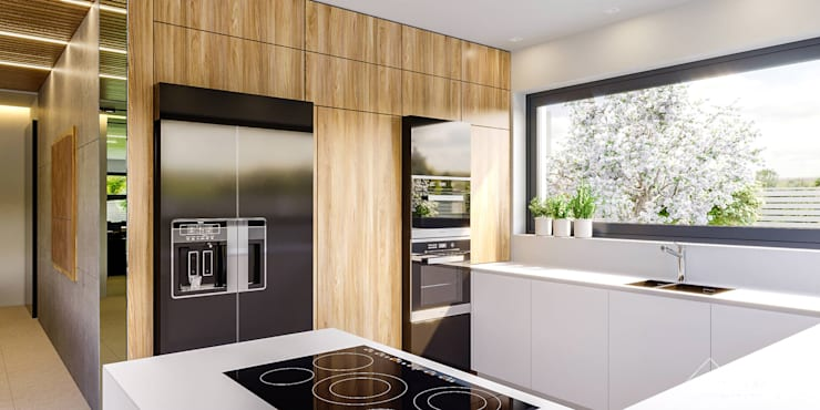 Projekt domu HomeKONCEPT 42: styl , w kategorii Kuchnia zaprojektowany przez HomeKONCEPT | Projekty Domów Nowoczesnych