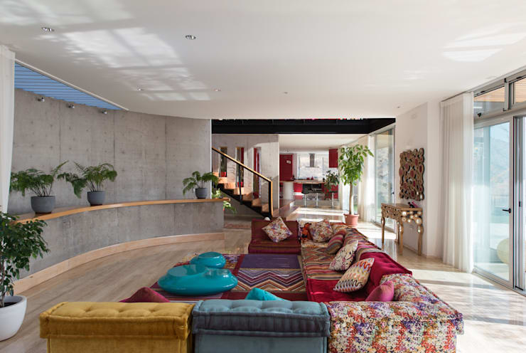 Casa Chamisero: Livings de estilo  por GITC