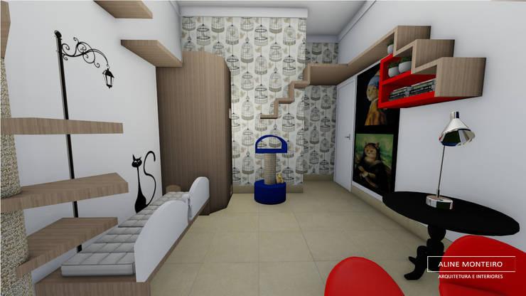 Projekty,  Sypialnia zaprojektowane przez Aline Monteiro