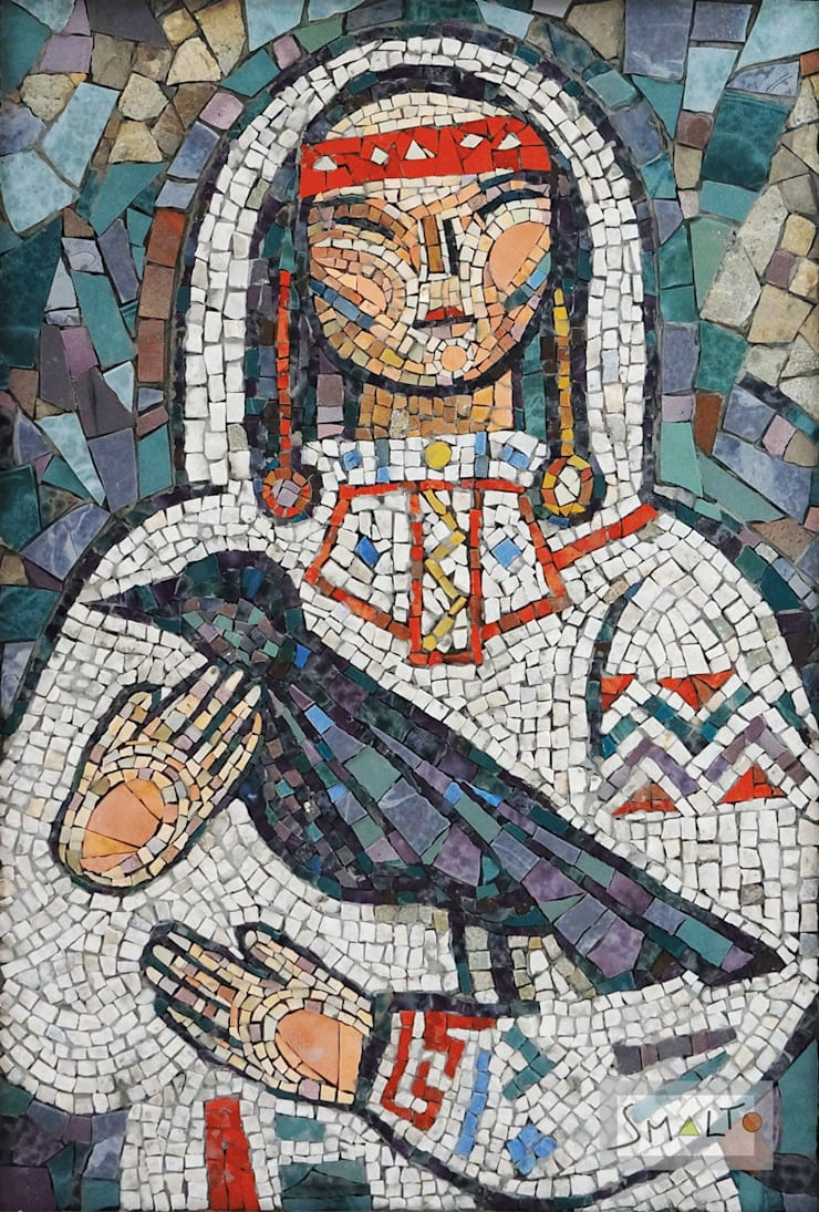 Мозаичное панно «Северянка»: Произведения искусства в . Автор – Мастерская художественной мозаики 'SMALTO'