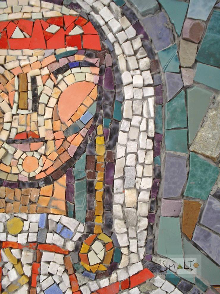 Фрагмент мозаичного панно «Северянка»: Произведения искусства в . Автор – Мастерская художественной мозаики 'SMALTO'